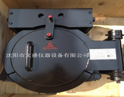 Clamp type quick opening blind plate