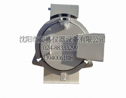 Three valve clamp type quick opening blind plate