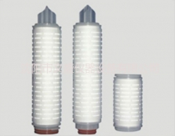 Folding microporous filter element